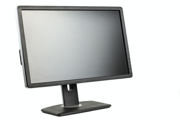Digital black computer monitor screen