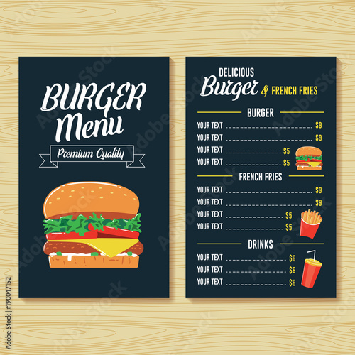 burger menu template stock image and royalty free vector files on
