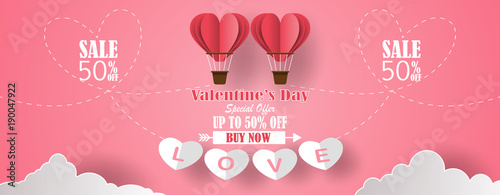 Happy Valentine S Day Banners With Discount Offer On Special
