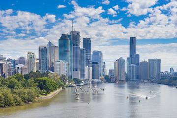 Photo sur Aluminium Océanie Brisbane CBD in daytime