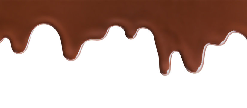 Melting Chocolate On White Background and pattern
