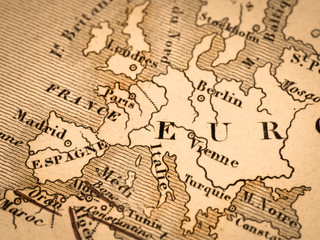 古い世界地図 ヨーロッパ