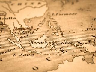 古い世界地図 東南アジア