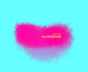 The frame consisting of chaotic lines. 3d abstract vector illustration. Design template with place for text. Modern pattern.
