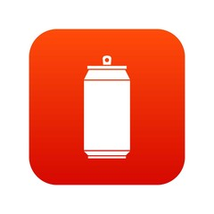 Can icon digital red