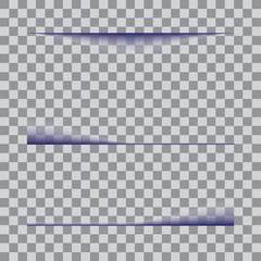Transparent realistic paper shadow effect set.