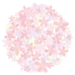 桜の背景素材 丸型