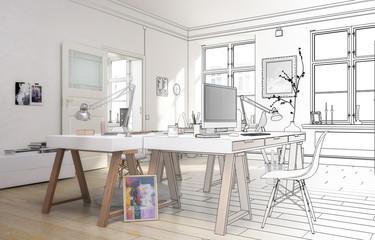 Atelier (Skizze)