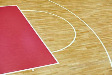 Basketball court parquet