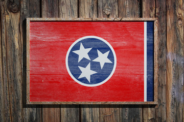 Wooden Tennessee flag