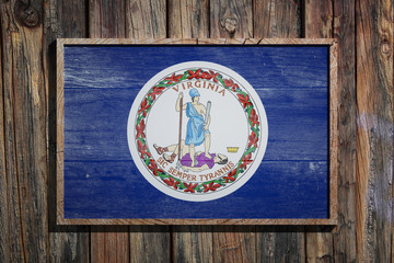 Wooden Virginia flag