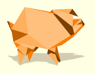 pig, simple abstract image