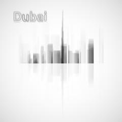 Dubai skyline illustration. Graphic concept for your design