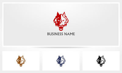 Angry Dog Wolf Logo