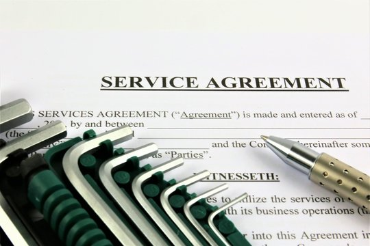 An concept Image of a Service agreement
