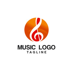 Creative Music Logo Design Template