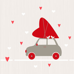 Valentine's Day card.  Vector llustration.