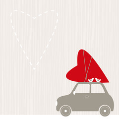 Valentine's Day background.  Vector llustration.