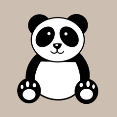 Cute animal panda design