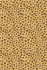 Leopard seamless texture repeating vector pattern.