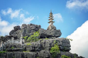 Top pagoda of Hang Mua temple, Ninh Binh, Vietnam
