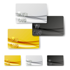 Gold mild swoosh wave pattern premium member cards collection