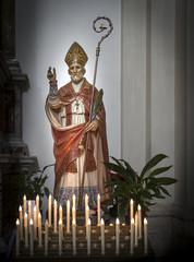 Valentine's day. statue of the saint in the Italian city of Terni