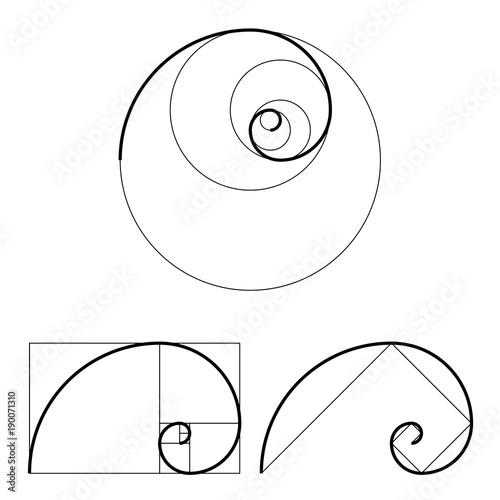 golden ratio template set proportion symbol graphic design element