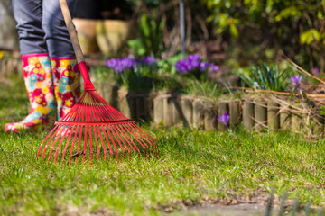 Garden cleaning.