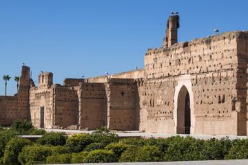 Marrakesch Marokko Medina Palast El Badi