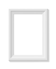 White picture frame. Portrait orientation