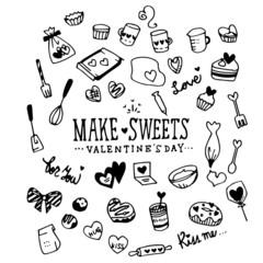Make Sweets Valentine's day Illustration Pack