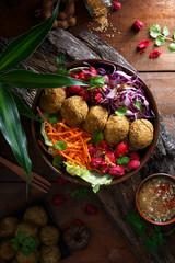 Salade de Falafels, Buddha Bowl Salade
