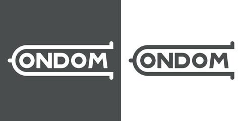 Logotipo CONDOM en gris y blanco