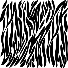 black drawing color zebra
