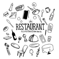 Restaurant Illustration Pack