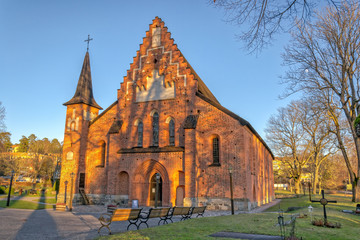 St. Mary's church in Sigtuna - winter view