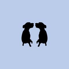 silhouette dog logo