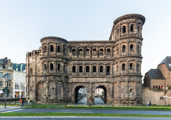 Printed kitchen splashbacks Artistic monument Famous Porta Nigra in Trier, Rheinland-Pfalz, Germany