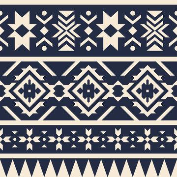 Seamless geometric pattern with ethnic motifs.
