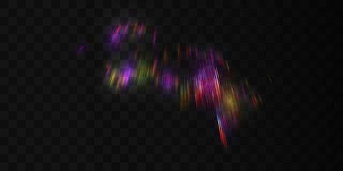 Aurora borealis transparent light effect