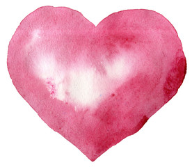 watercolor pink heart