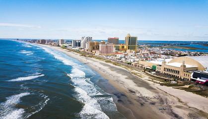 Atlantic city waterline aerial Wall mural