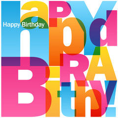"""HAPPY BIRTHDAY"" Vector Letters Card"