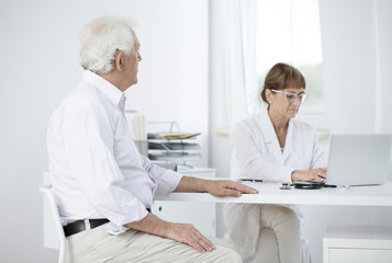 Patient visiting doctor