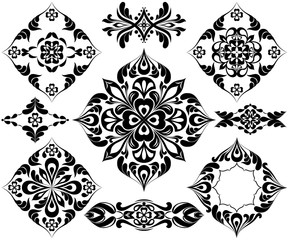 Set of patterns for tattoo and other decorations