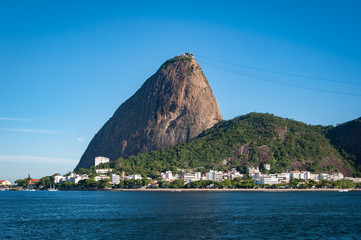 Fototapete - Sugarloaf Mountain, the famous natural landrmark of Rio de Janeiro, Brazil