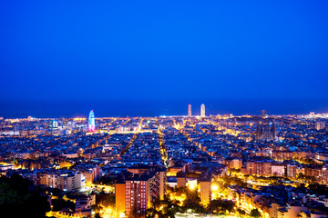 Barcelona skyline, Spain