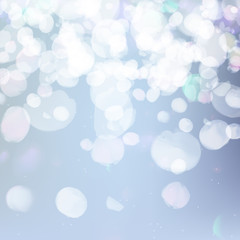 Vector abstract bokeh background. Festive defocused lights. Sparkles blur illumination. Blurred glow particles.