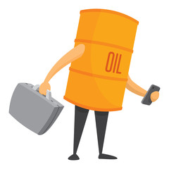 Oil barrel dealing some energy business